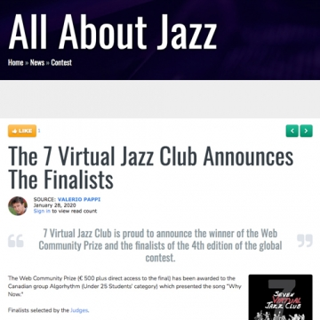 All About Jazz - 28 January 2020